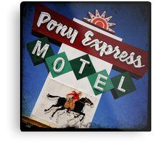 Pony Express Motel Metal Print
