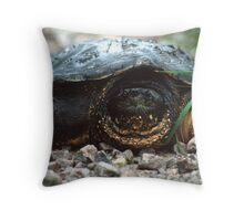 The Old Snapping Turtle Throw Pillow