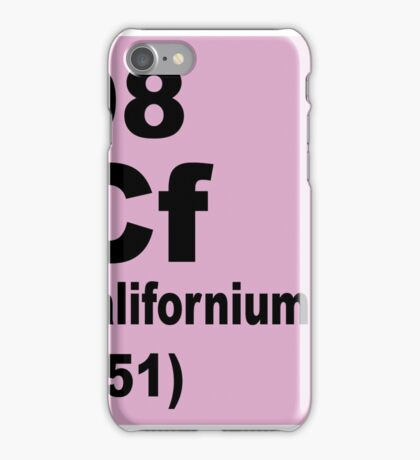 Californium Periodic Table of Elements iPhone Case/Skin