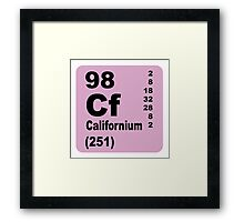 Californium Periodic Table of Elements Framed Print