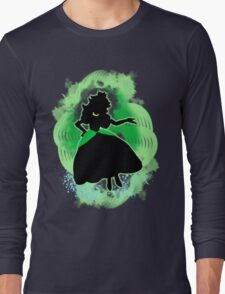 Super Smash Bros. Green Peach Silhouette Long Sleeve T-Shirt