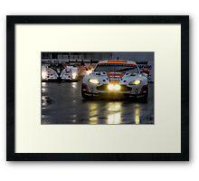 Race In The Rain Framed Print