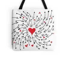 Red Heart With Arrow Tote Bag