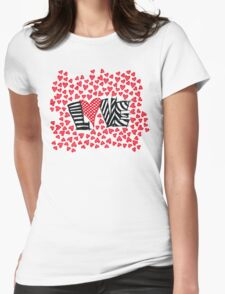 Freehand Sketch Love Letter Womens Fitted T-Shirt
