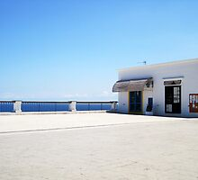 High Noon - Deserted Piazza in Stromboli by ChristianeW