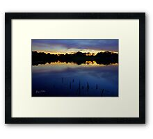 Evening Shadows Framed Print