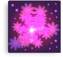 Pink Abstract Flower Dream Canvas Print