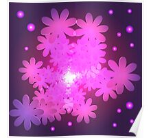 Pink Abstract Flower Dream Poster