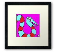 """""""Saturday Snake"""" by Richard F. Yates Framed Print"""