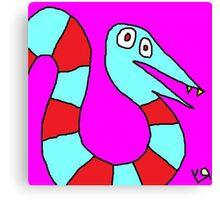 """Saturday Snake"" by Richard F. Yates Canvas Print"