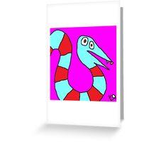 """Saturday Snake"" by Richard F. Yates Greeting Card"