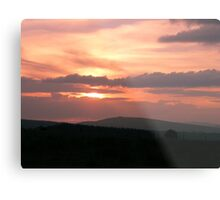 Strong red sunset - Donegal Ireland Metal Print