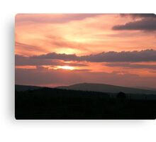 Strong red sunset - Donegal Ireland Canvas Print