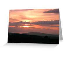 Strong red sunset - Donegal Ireland Greeting Card