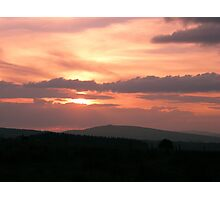 Strong red sunset - Donegal Ireland Photographic Print