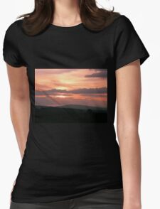 Strong red sunset - Donegal Ireland Womens Fitted T-Shirt