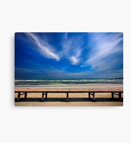 Keros beach - Lemnos island Canvas Print