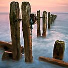 Sandsend Groynes. by Phillip Dove