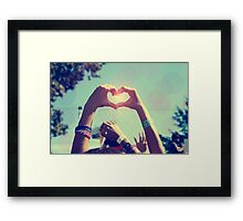 Have Heart in a Crowd Framed Print