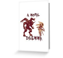A Moral Dilemma - Orange Greeting Card