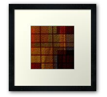 Multi Colored Leather Patchwork Framed Print