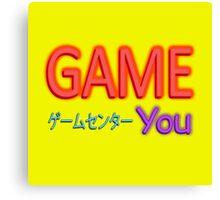 You Arcade Canvas Print