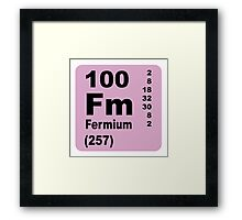 Fermium Periodic Table of Elements Framed Print