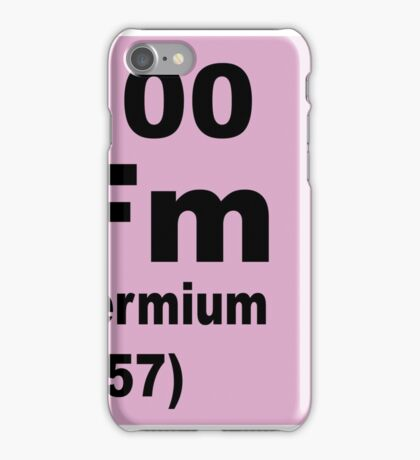 Fermium Periodic Table of Elements iPhone Case/Skin