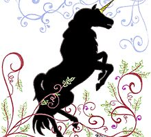 Dark Unicorn Dancing by ArtByDrax