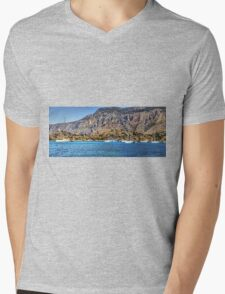 Yachts at Panormitis Mens V-Neck T-Shirt