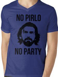 NO PIRLO NO PARTY Mens V-Neck T-Shirt