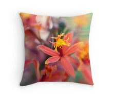 Untitled Flower Macro Throw Pillow