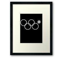 Sochi Rings Framed Print