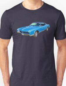 Blue 1967 Buick Riviera Muscle Car T-Shirt
