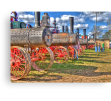 Steam Engine Line-up Canvas Print