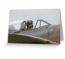 Spitfire Pilot Greeting Card