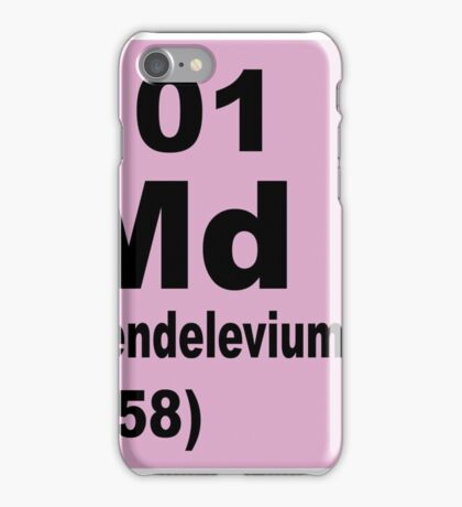 Mendelevium Periodic table of Elements iPhone Case/Skin