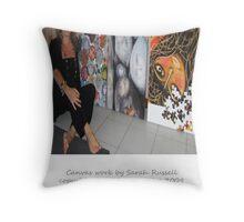 Inspirational artwork - canvas examples  Throw Pillow