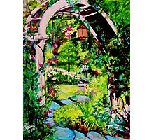 Camille's Secret Cottage Garden Photographic Print