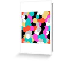 Big overlapping circles in pink grey colors Greeting Card
