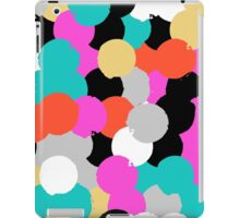 Big overlapping circles in pink grey colors iPad Case/Skin