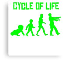 Zombie Cycle Of Life Canvas Print