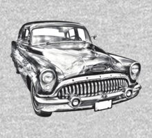 1953 Buick Special Antique Car Illustration One Piece - Long Sleeve