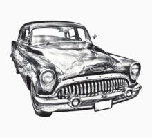 1953 Buick Special Antique Car Illustration Kids Clothes