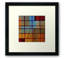 Multi Colored Leather Patchwork 4 Framed Print