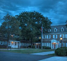 Hayfield House (Blue Hour) by Aaron Campbell