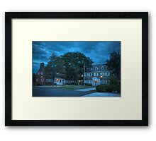Hayfield House (Blue Hour) Framed Print