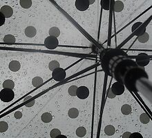Umbrella and Raindrops by Fury Iowa-Jones