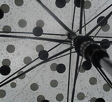 Umbrella and Raindrops by Fury Iowa-Jones