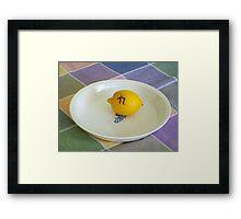 Lemon Pi Framed Print
